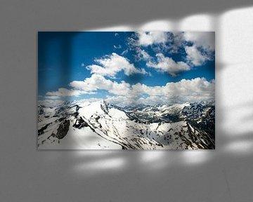 Grossglocknerblick, Mountainpanorama seen from Kitzsteinhorn, Austria van Lars Scheve