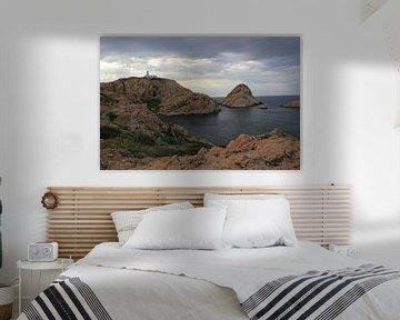 Vuurtoren Corsica, L'lle de Rousse van Monique Meijer
