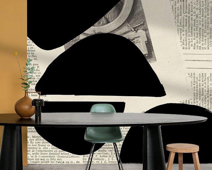 Sfeerimpressie behang: Abstract Papier VIII van YOPIE illustraties
