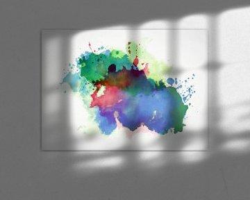 Abstrakte Komposition 879 von Angel Estevez