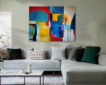 Abstrakte Komposition 805 von Angel Estevez