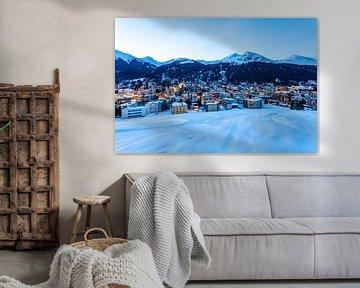 Davos in Zwitserland van Werner Dieterich