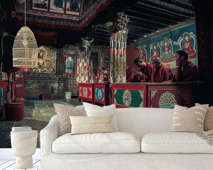 Sfeerimpressie behang: boeddhistische tempel van Edgar Bonnet-behar