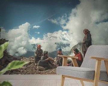 Himalaya-vrouwen van Edgar Bonnet-behar