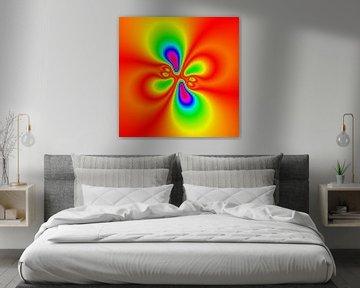 Abstraktes Neon-Muster von Maurice Dawson