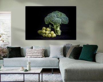 Broccoli met druiven van Peter van Nugteren