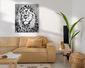 Löwenkopf von Kathleen Artist Fine Art