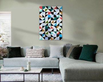 Abstracte samenstelling 647 van Angel Estevez