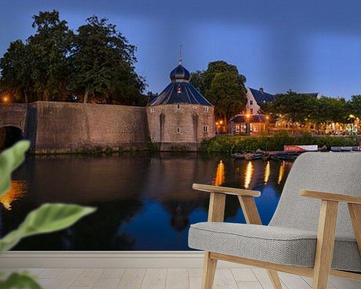 Sfeerimpressie behang: Panorama Breda Spanjaardsgat bij avondlicht van JPWFoto