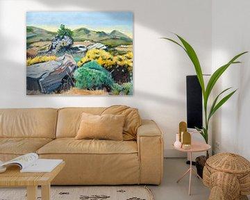 Landschaft auf Naxos Gr. von Antonie van Gelder Beeldend kunstenaar