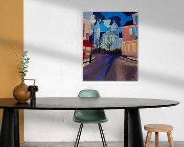 Mont martre Paris bei Nacht von Antonie van Gelder Beeldend kunstenaar
