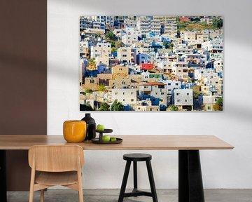 Häuser am Berghang Bethlehem, Palästina von Sander Jacobs