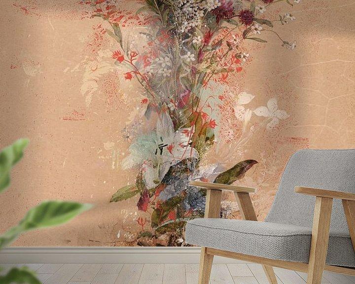 Sfeerimpressie behang: Floriage van Teis Albers