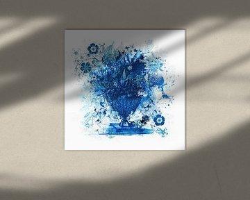 Königsblauer Strauß von Teis Albers