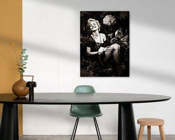 Marilyn Monroe Industrieel Zwart&Wit van Helga fotosvanhelga