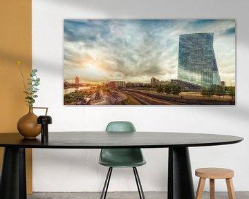 Frankfurt EZB Panorama von Frank Wächter
