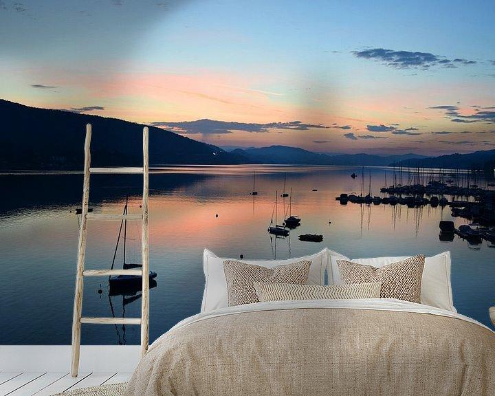 Beispiel fototapete: Sonnenaufgang am Wörthersee von Markus Jerko