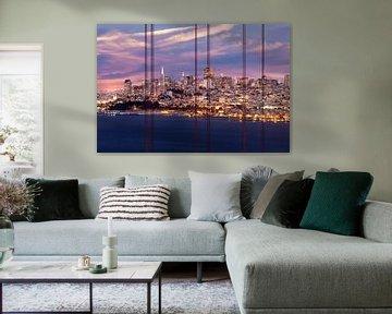 SAN FRANCISCO Skyline am Abend von Melanie Viola