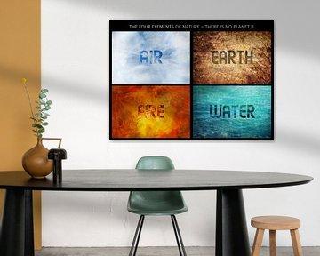 Vier Elementen van de Natuur, Er is geen Planeet B, samenstelling van prachtige achtergronden met in van Maren Winter