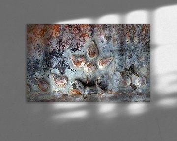 Abstract in cognac en blauw van Affect Fotografie