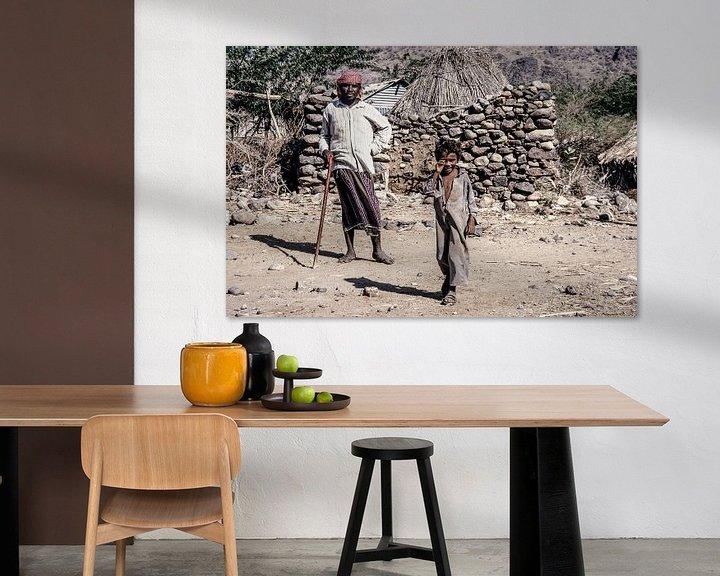 Beispiel: Dorf im Jemen - Analoge Fotografie! von Tom River Art