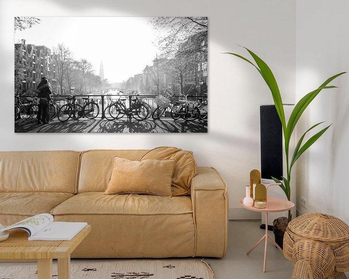 Sfeerimpressie: Love in misty Amsterdam van Wil Crooymans