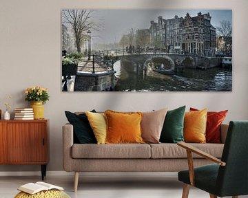 Nebliger Amsterdam 2 von Wil Crooymans