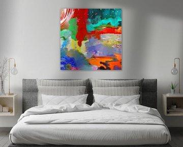 Modern abstract schilderij van Nicole Habets