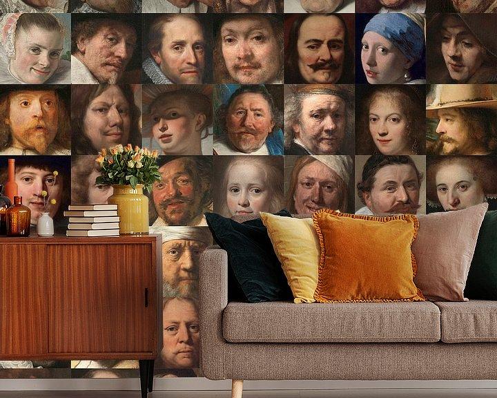 Impression: Visages de l'âge d'or - Collage de portraits de Néerlandais sur Roger VDB