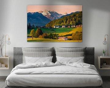 Morgenlicht im Berchtesgadener Land, Bayern, Deutschland