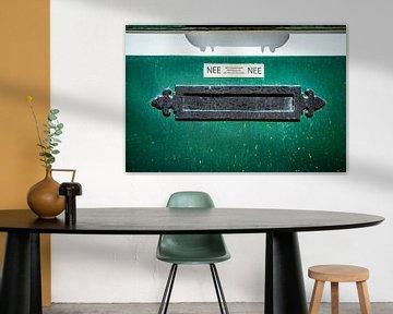 Old Horizontal Metal Letterbox von Urban Photo Lab