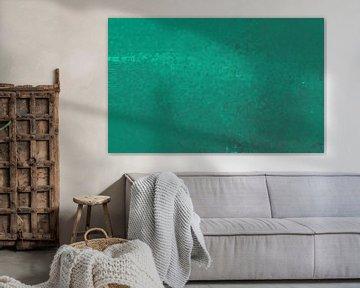 Abstrakter grüner Pointillismus von Maurice Dawson