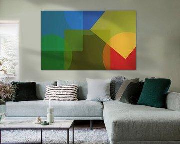 Abstrakte Kreise und Quadrate von Maurice Dawson