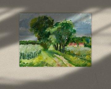 Landschap in Bourgondie Frankrijk van Antonie van Gelder Beeldend kunstenaar