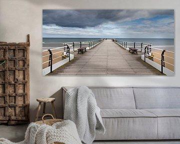 Saltburn Pier in Engeland van Irma Meijerman