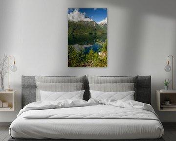 Eikesdalvatnet, Noorwegen van Adelheid Smitt