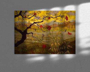 Paul Elie Ranson-Apfelbaum mit roten Früchten
