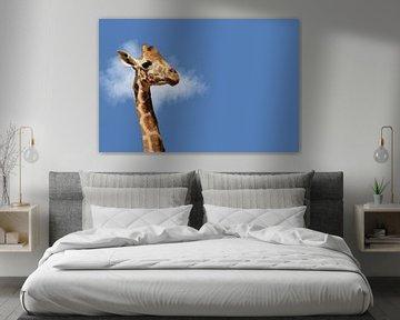 Porträt einer Giraffe von Elles Rijsdijk