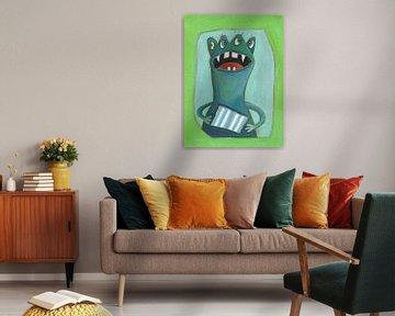 Monster 4Auge von Atelier BuntePunkt