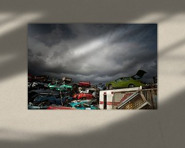 Auto kerkhof van Sonja Pixels