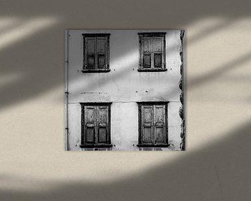 Vier luiken Italië (zwart/wit) von Rob van der Pijll