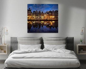 Grachtenhäuser Amsterdam von Peter de Jong