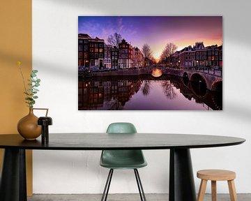 Kanal von Amsterdam von Peter de Jong