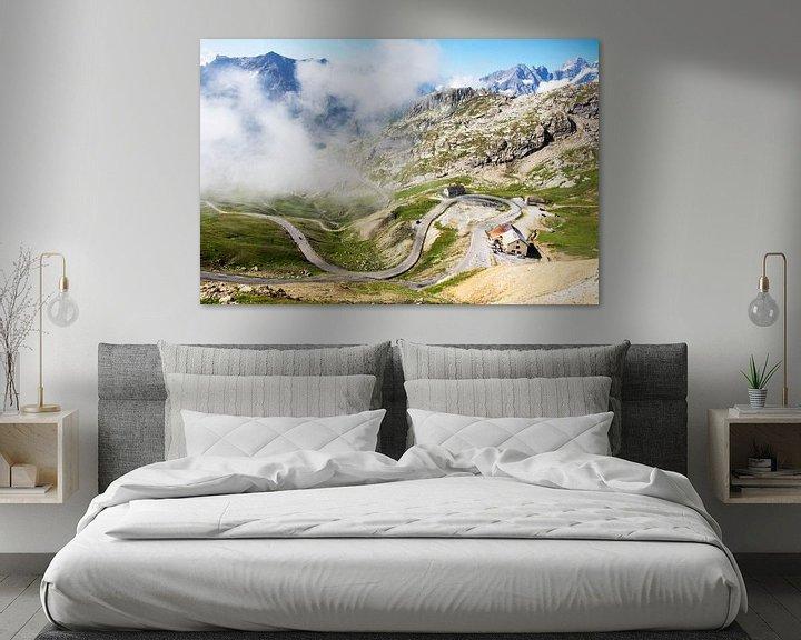 Beispiel: Der Weg zum Col du Galibier durch die Wolken von Tom van Vark Photography