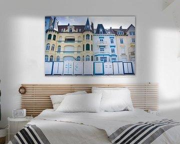 Strandhutten in Wimereux van Danny Tchi Photography