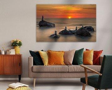 Abendsonne über der Ostsee von Ronny Rohloff