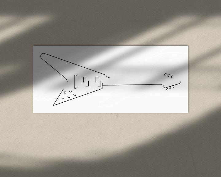 Beispiel: Gitarren-Silhouette (Fliegender V-Stil) von Drawn by Johan