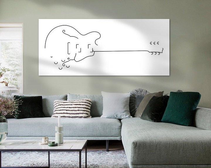 Beispiel: Gitarren-Silhouette (Hohlkörper-Stil) von Drawn by Johan