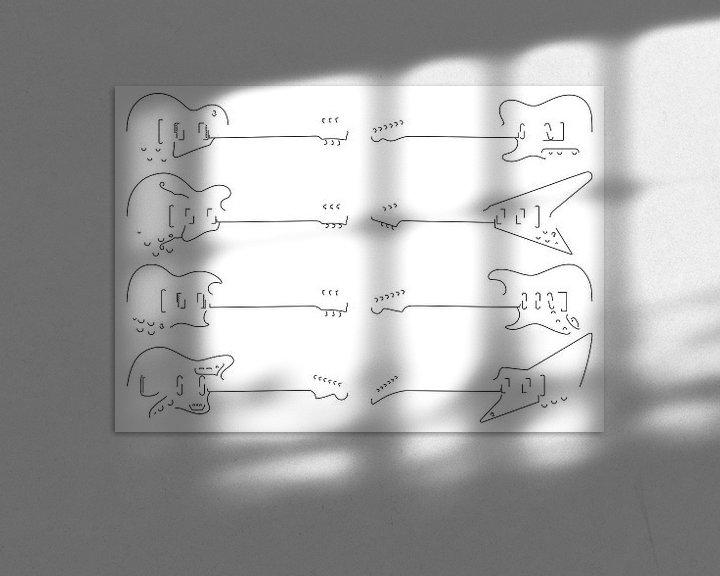 Beispiel: Silhouetten von Gitarren von Drawn by Johan