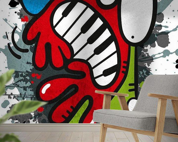 Sfeerimpressie behang: Piano van karen vleugel